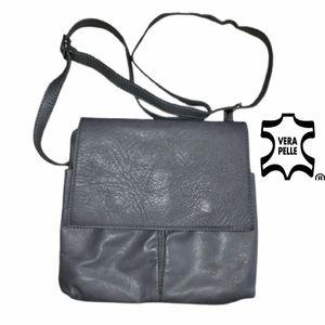 Unisex Vera Pelle grey sofy crossbody